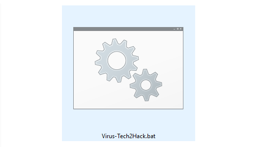 create notepad virus- batch file