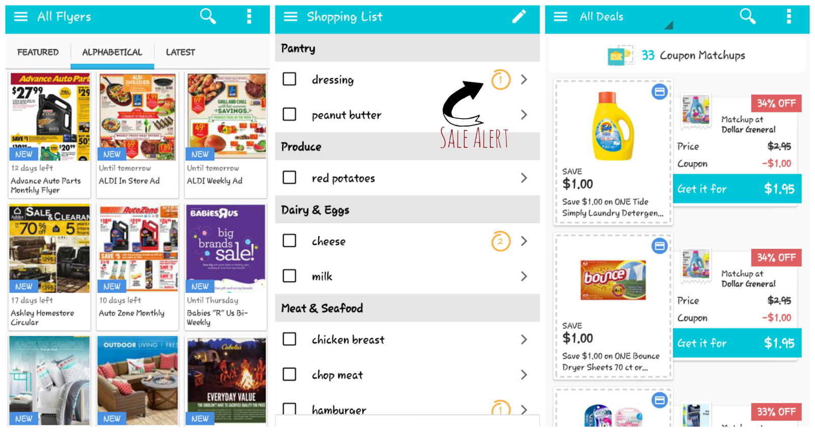 Flipp - Grocery & Shopping List App Coupon Matchup